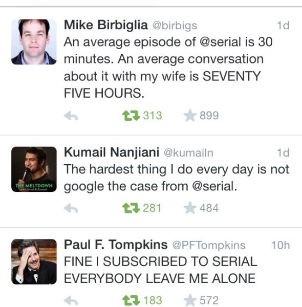 serial tweets